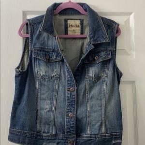 Mudd distressed jean vest brand new